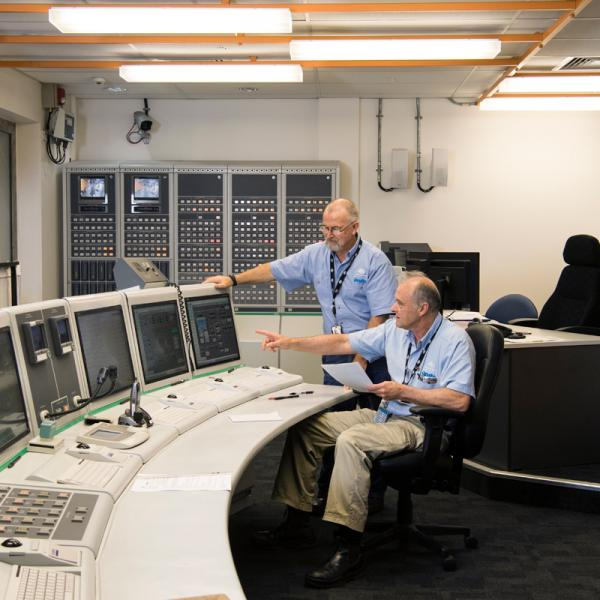Control room of the OPAL reactor