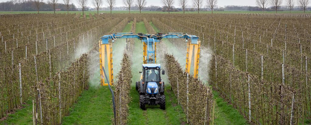 Modern orchard spraying